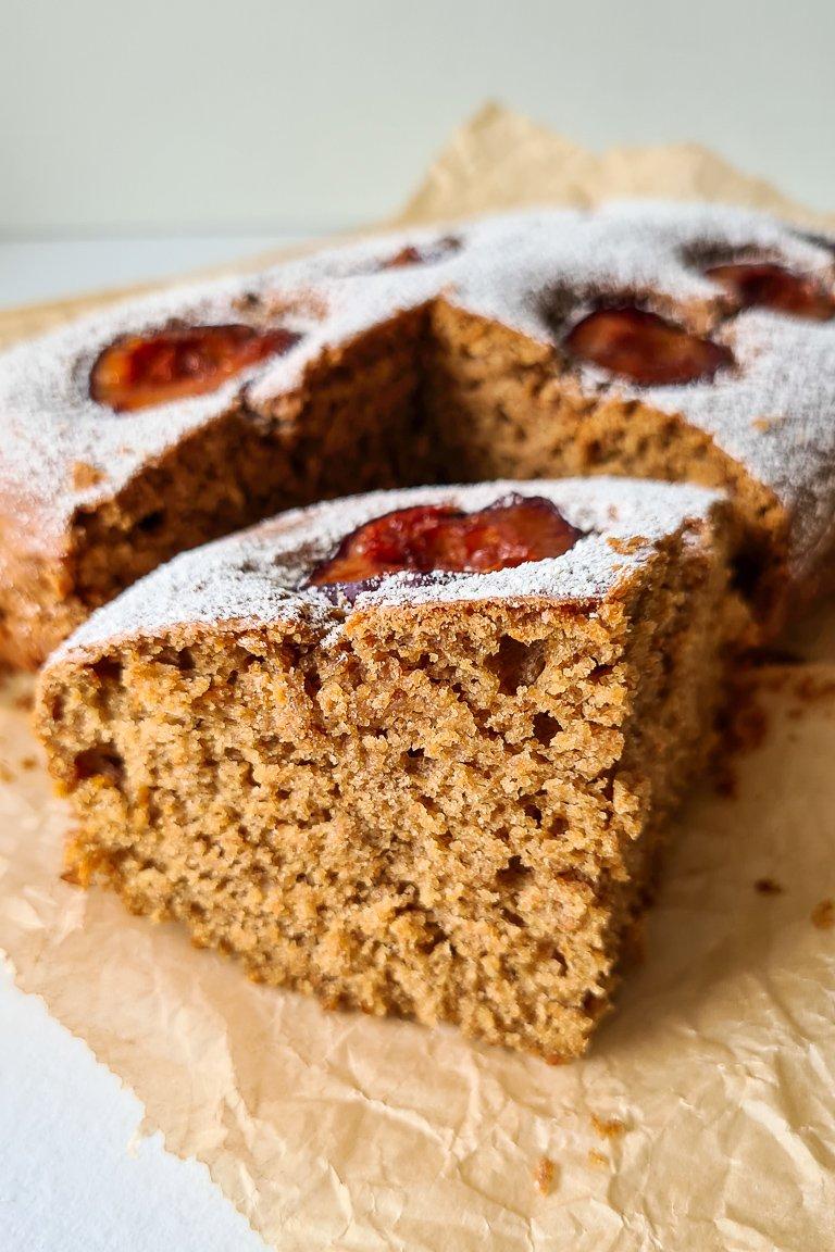 Torta di Prugne o Plum Cake Vegana, morbidissima, senza latte e senza uova