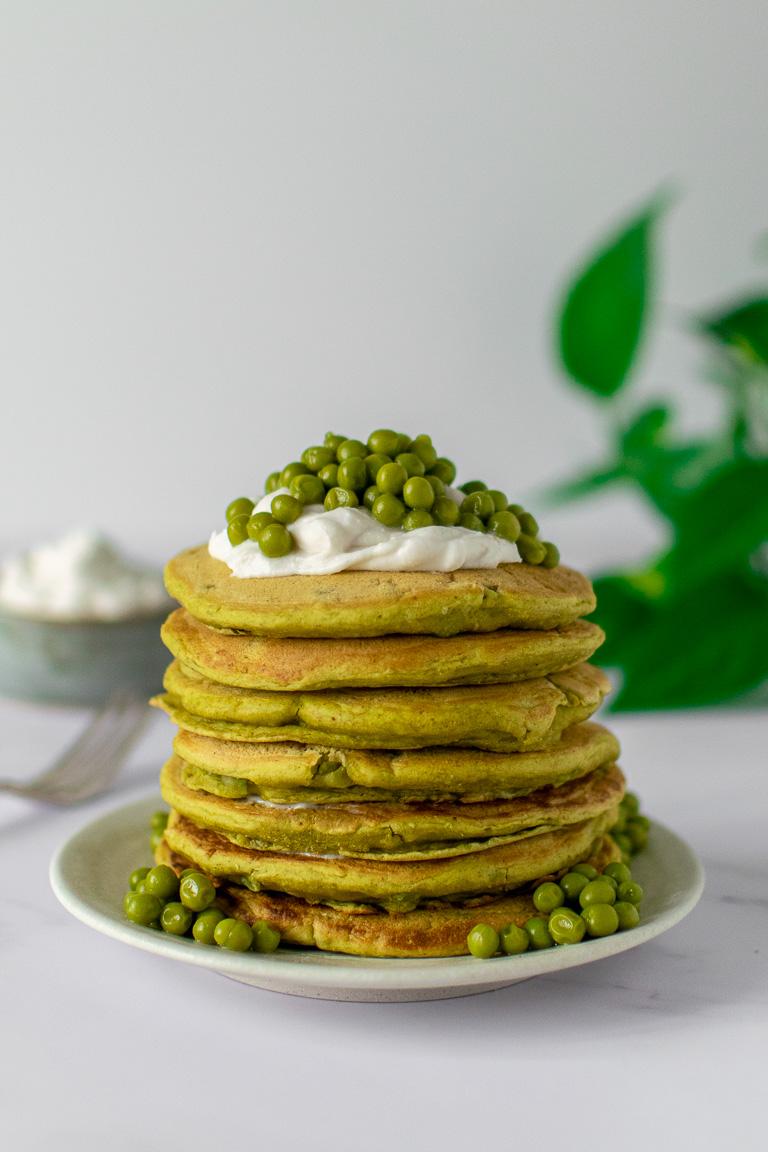 pancakes verdi di piselli