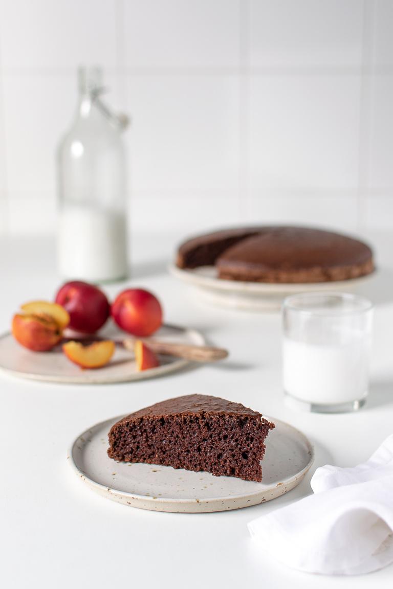 torta al cacao e acquafaba