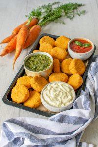 polpette carote e tofu con maionese vegana fatta in casa